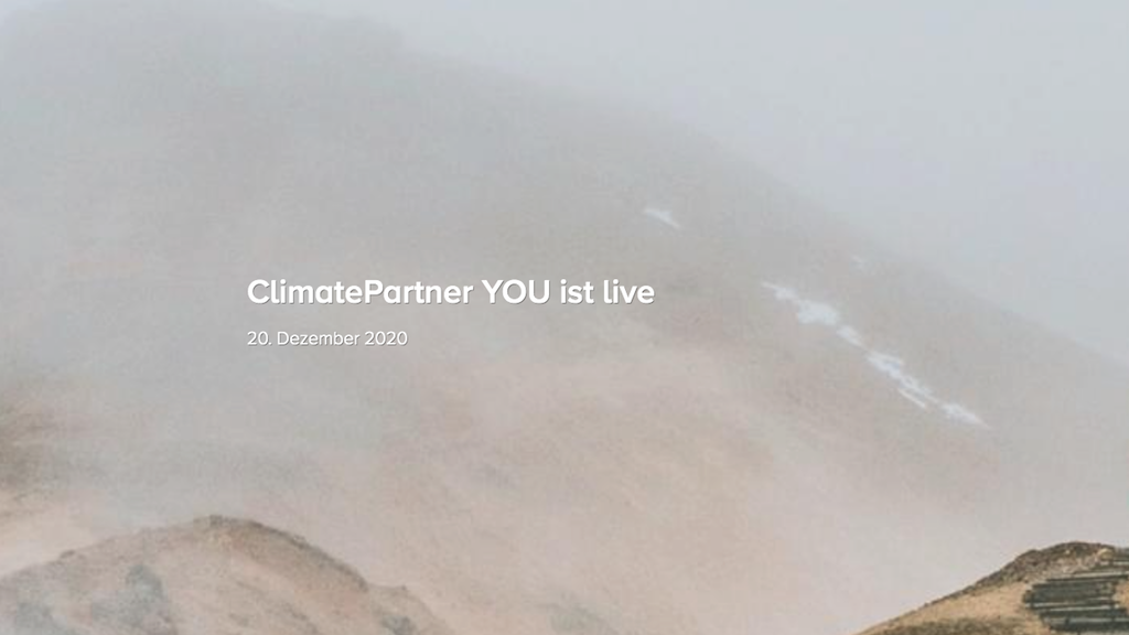 ClimatePartner YOU